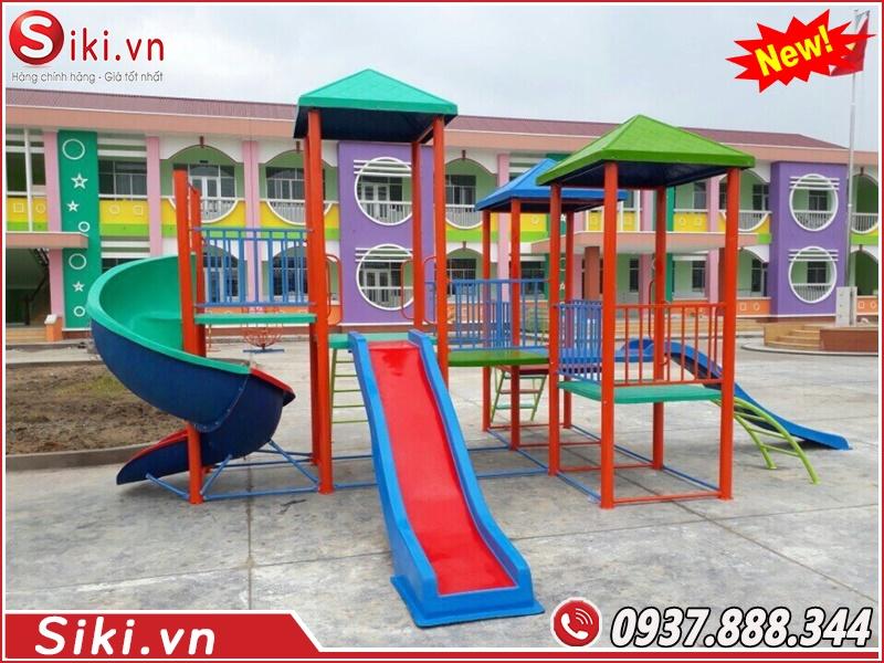 Trẻ em khoảng bao nhiêu tuổi có thể dùng được đồ chơi cầu trượt liên hoàn?